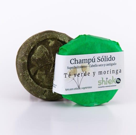 Champu natural con te verde y moringa – Cabellos secos y castigados