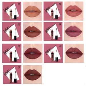 barra de labios purobio liquida tonos