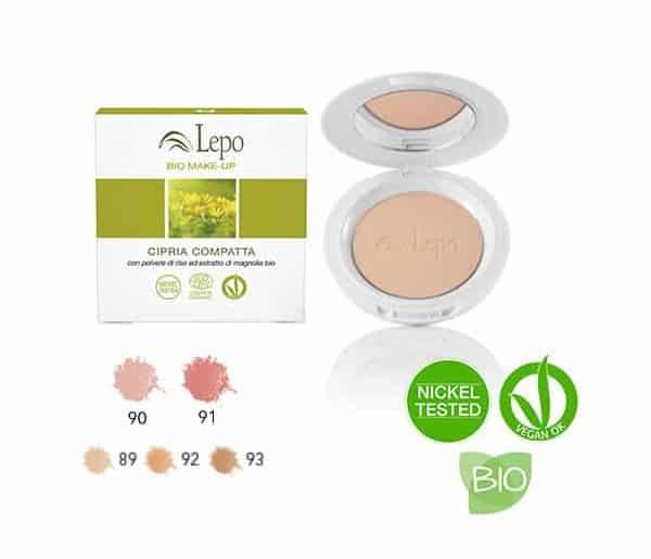 colorete en polvo compacto lepo natural