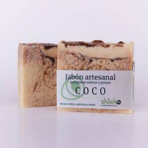jabon artesanal de coco 100% natural