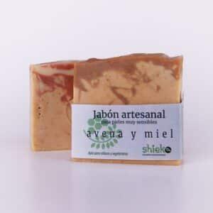 jabon artesanal y natural de avena y miel