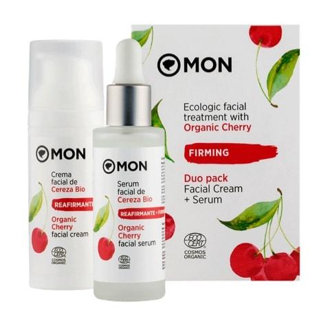 pack crema facial mas serum de cereza